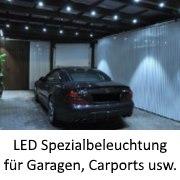 Spezialbeleuchtung für Garagen, Carports usw.