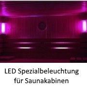 LED Spezialbeleuchtung für Saunakabinen